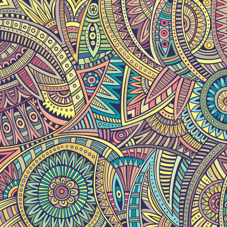 Abstract vintage deco vector tribal ethnic background