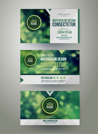 nature photography: Vector Corporate identity templates with blurred abstract background