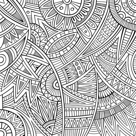 african culture: Abstract vintage deco vector tribal ethnic background