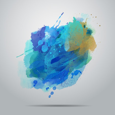Vector watercolor paint abstract background card design