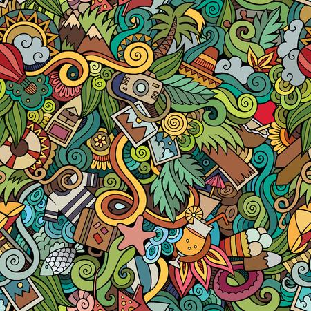 Naadloze abstracte patroon zomer en reizen achtergrond