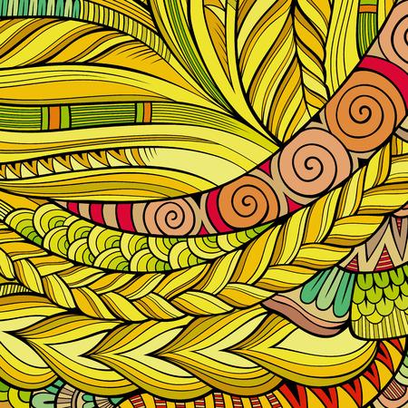 indische muster: Dekorative abstrakte Zier ethnischen Stammes Vektor Hintergrund