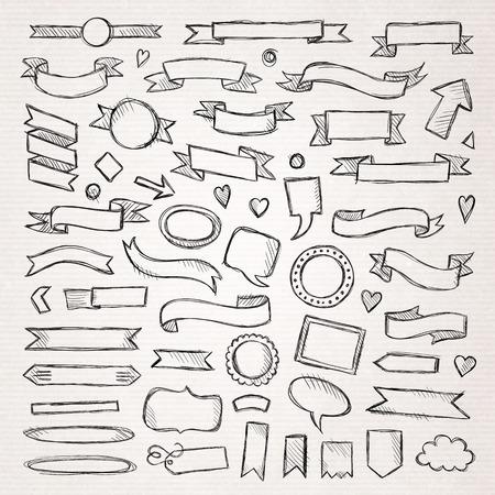 Hand drawn sketch hand drawn elements. Vector illustration.