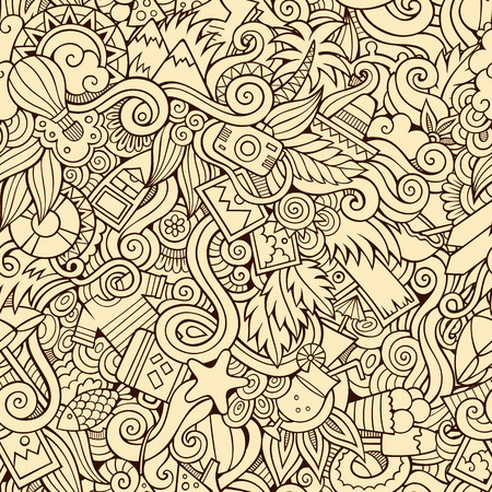 Seamless abstract pattern summer and travel background Vector