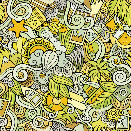 Seamless abstract pattern summer and travel background Illustration