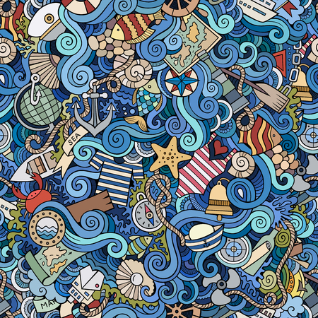 navigation object: Seamless abstract pattern nautical and marine background