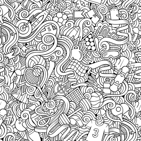 Seamless abstract pattern sports and fitness background Çizim