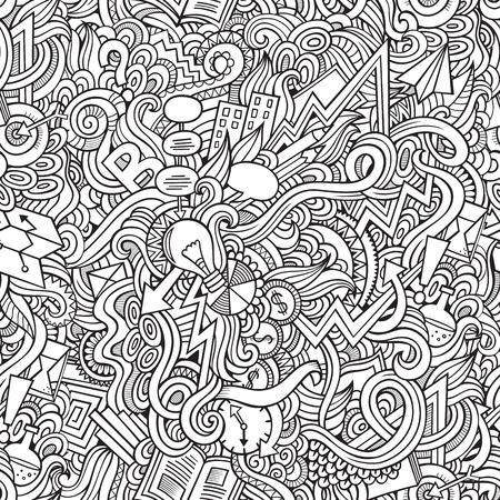 seamless pattern: Cartoon vector doodles hand drawn idea seamless pattern