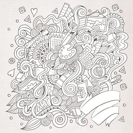 Cartoon vecteur griffonnages sommaires dessinés à la main et de l'artisanat de fond Banque d'images - 41390255