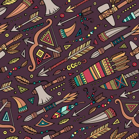 peruvian ethnicity: Tribal abstract native ethnic vector seamless pattern