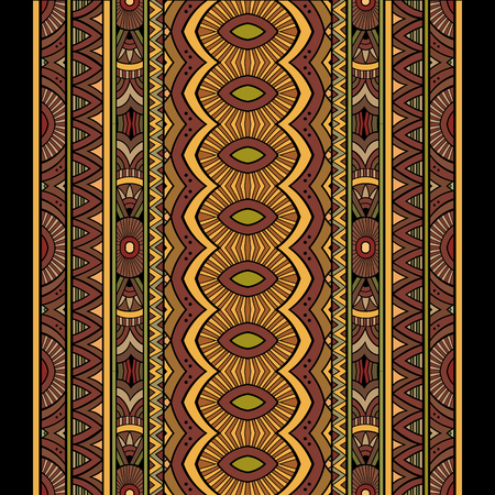 tribes: Abstract vector tribal ethnic seamless stripes background set