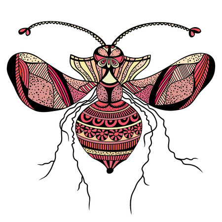 fryer: Vector decorative insect butterfly art vector illustration Illustration