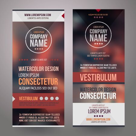 the information card: Corporate identity templates design with blurred abstract background