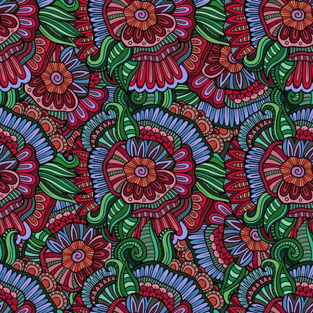 batik: seamless de fleurs abstraites. Sans fin fond.