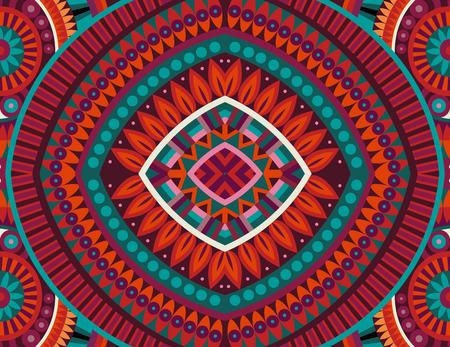 추상 부족 민족 배경 원활한 패턴 일러스트