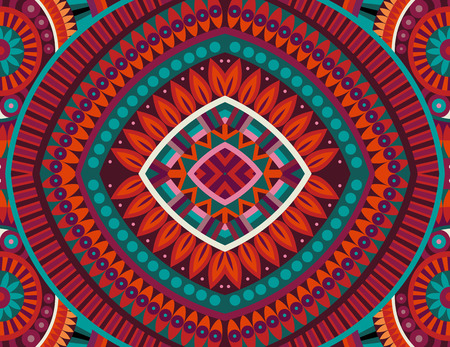 Abstract tribal ethnic background seamless pattern Çizim