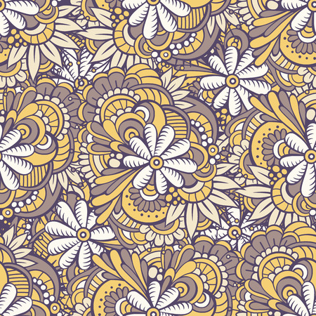 endless: seamless abstract flowers pattern. Endless background. Illustration