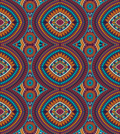 tribal: Abstract tribal ethnic background seamless pattern Illustration