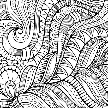 Decorative hand drawn nature ornamental ethnic vector background