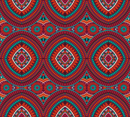flower patterns: Abstract vector tribal ethnic background seamless pattern