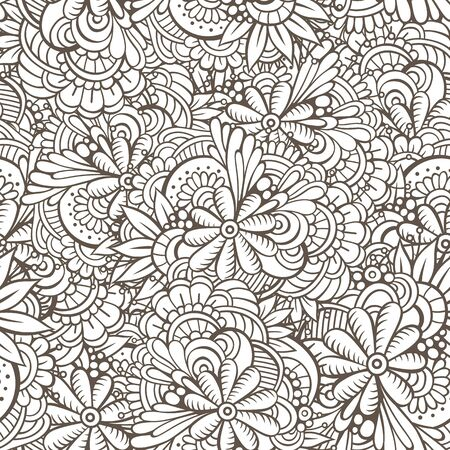 abstract pattern: seamless abstract flowers pattern