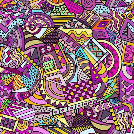 forme: Les formes géométriques colorées vecteur décoratif abstrait seamless