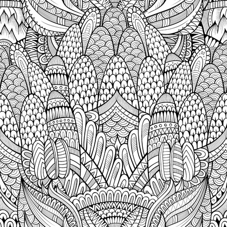 abstract art background: Vintage decorative abstract background ornamental seamless pattern