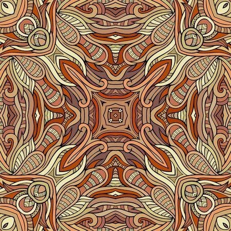 decorative pattern: Abstract vector decorative ethnic hand drawn vintage seamless pattern Illustration