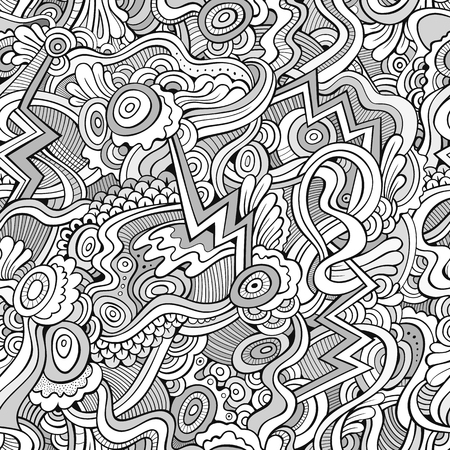 abstract background vector: Abstract vector decorative ethnic hand drawn vintage retro seamless pattern. Can be used for wallpaper, pattern fills, web page background, surface textures