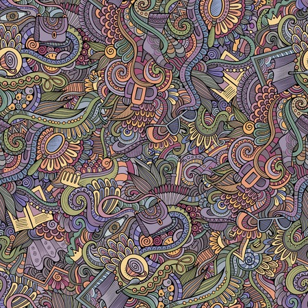 beads: Seamless pattern with female fashion things background