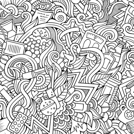 Seamless abstract pattern medical and health background