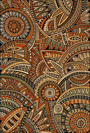 Abstract vector tribal decorative ethnic background pattern Çizim