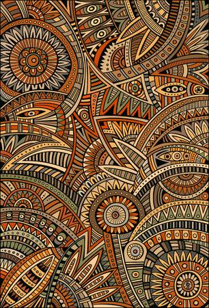 patrones de flores: Extracto tribal vector patrón de fondo étnico decorativa Vectores