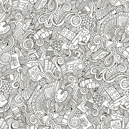 Garabatos Dibujados A Mano De Dibujos Animados De Arte, Diseño ...