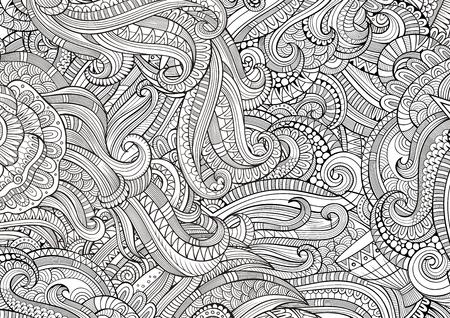 Resumen Incompletos Garabatos Dibujados A Mano Decorativos Patrón ...