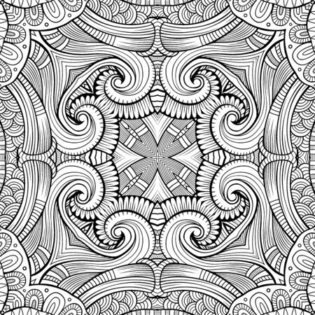 arabesque pattern: Abstract vector ethnic sketchy background