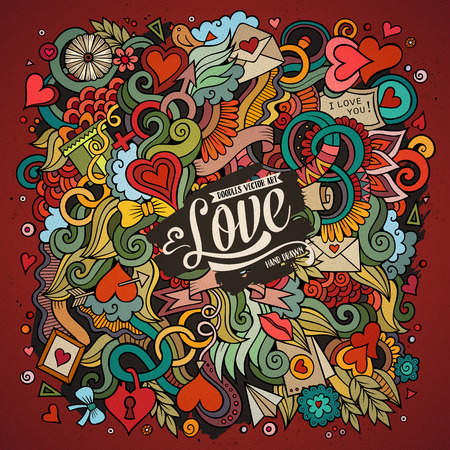 漫画かわいい落書き手描き下ろしバレンタインの日イラスト