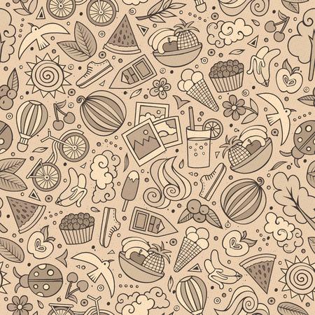 balloon cartoon: Cartoon summer time seamless pattern