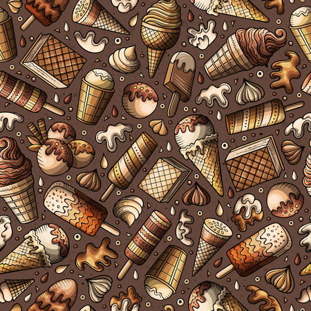 만화 손으로 그린 아이스크림한다면 원활한 패턴