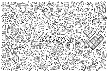 Vector et of Bathroom objects Stok Fotoğraf - 74662541