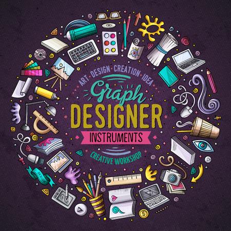 Ensemble de dessins animés de conception doodle objets, symboles et objets Banque d'images - 74662599