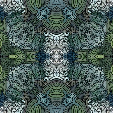 Abstracte vector etnische bloemen naadloze patroon