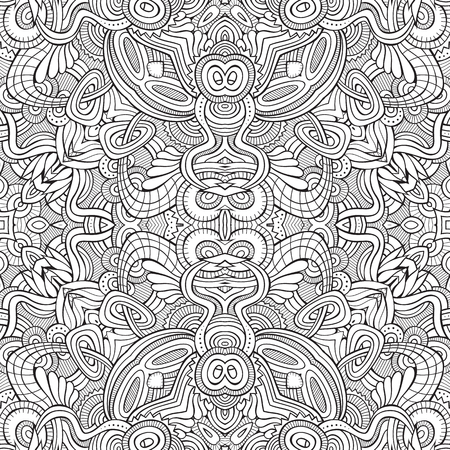 Abstract vector ethnic sketchy background