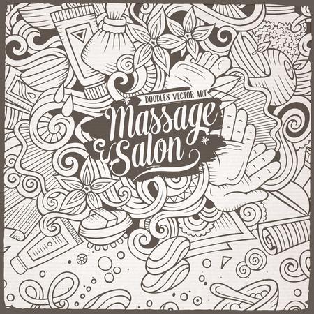 Cartoon cute doodles Massage frame Illustration