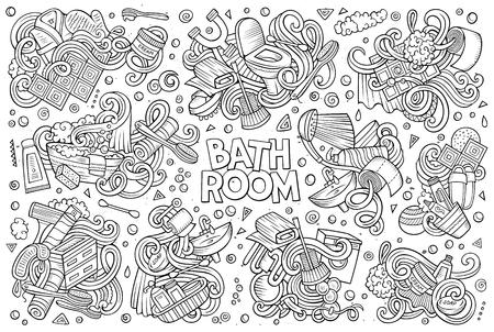 Vector set of Bathroom doodles designs Stok Fotoğraf - 78091637