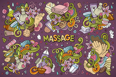 Vector set of Massage and Spa designs