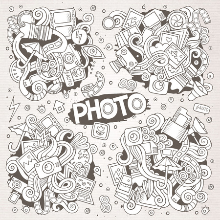 Photo doodles hand drawn sketchy vector symbols and objects