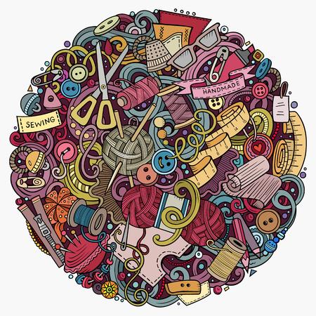 Cartoon vector doodles Handmade illustration