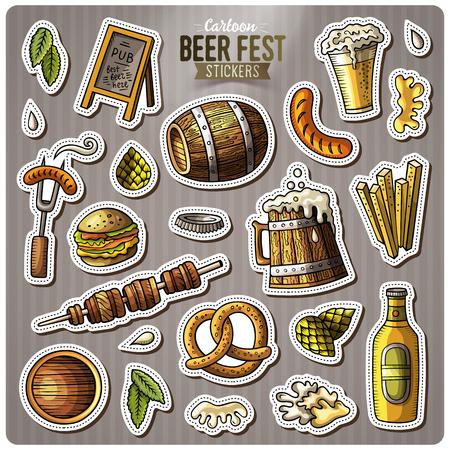 bar magnet: Set of beer fest icon.