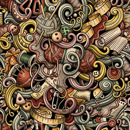 Getrokken met de hand gemaakt patroon van beeldverhaal het leuke krabbels hand.